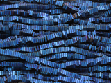 Blue Electroplated Hematite Square Heishi Gemstone Beads 3mm (GS4258)