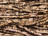Copper & Bronze Hematite Square Heishi Gemstone Beads 3mm (GS4261)