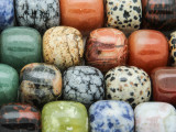 Mixed Barrel Gemstone Beads 13-18mm (GS4262)