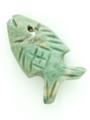 Mayan Carved Jade Amulet 33mm (GJ227)