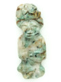 Mayan Carved Jade Amulet 39mm (GJ232)