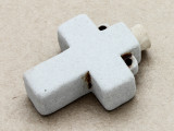 Cross Ceramic Cork Bottle Pendant 42mm (AP1918)