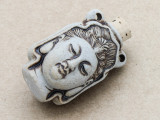 Guanyin Ceramic Cork Bottle Pendant 40mm (AP1922)