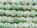 Green & Clear Recycled Glass Beads 8-10mm - Africa (RG611)