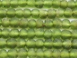 Lime Green Recycled Glass Beads 7-10mm - Africa (RG619)
