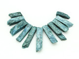 Teal Quartz Gemstone Pendants - Set of 11 (GSP1774)
