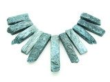 Teal Quartz Gemstone Pendants - Set of 11 (GSP1777)