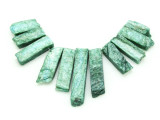 Green Quartz Gemstone Pendants - Set of 11 (GSP1781)