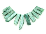 Green Quartz Gemstone Pendants - Set of 11 (GSP1783)