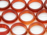 Carnelian Agate Ring Gemstone Beads 22mm (GS4403)