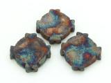 Celtic Cross Raku Ceramic Bead 19mm - Peru (CER148)