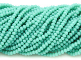 Turquoise Crystal Glass Beads 2mm (CRY423)