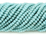 Matte Light Turquoise Crystal Glass Beads 4mm (CRY436)