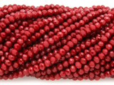 Cherry Red Crystal Glass Beads 4mm (CRY446)