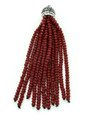 Dark Red Crystal Glass Beaded Tassel (CRY404)