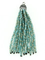 Turquoise Crystal Glass Beaded Tassel (CRY405)