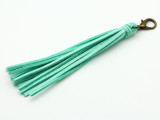 "Turquoise Leather Tassel - 5"" (LR82)"