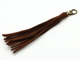 "Red Brown Leather Tassel - 5"" (LR84)"