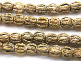 Ornate Brass Round Beads 12-15mm - Ghana (ME5694)