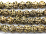 Ornate Brass Round Beads 12-15mm - Ghana (ME5706)