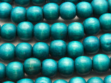 Turquoise Blue Round Wood Beads 12mm (WD943)