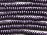 Purple Saucer Wood Beads 6mm (WD951)