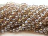 Champagne Round Crystal Glass Beads 6mm (CRY465)