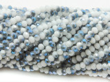White & Blue Gray Crystal Glass Beads 4mm (CRY469)