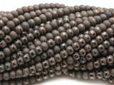 Dark Bronze Metallic Stripe Crystal Glass Beads 6mm (CRY484)