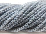 Ice Blue Metallic Stripe Crystal Glass Beads 4mm (CRY487)