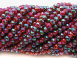 Fuchsia Jeweltone Crystal Glass Beads 6mm (CRY494)