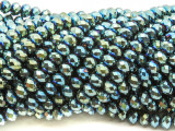 Teal Jeweltone Crystal Glass Beads 6mm (CRY496)