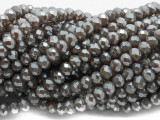 Warm Gray Crystal Glass Beads 6mm (CRY500)
