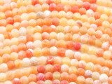 Matte Orange Crackle Agate Round Gemstone Beads 6mm (GS4421)