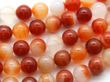 Carnelian Agate Round Gemstone Beads 12mm (GS4436)