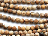 Matte Picture Jasper Round Gemstone Beads 6mm (GS4461)