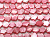 Pink Flower Tabular Shell Beads 10mm (SH567)