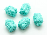 Turquoise Buddha Resin Bead 14mm (RES622)
