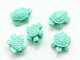 Turquoise Turtle Resin Bead 15mm (RES628)