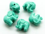 Turquoise Elephant Resin Bead 12mm (RES631)