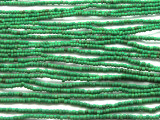 "Small Green Glass Beads - 44"" strand (JV9072)"