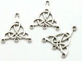 Celtic Knot 3-Hole Connector - Pewter Pendant 28mm (PW951)