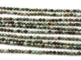 "African ""Turquoise"" Jasper Faceted Round Gemstone Beads 4mm (GS4474)"