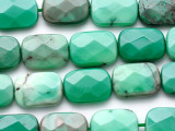 Chrysoprase Faceted Rectangle Tabular Gemstone Beads 18mm (GS4486)