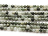 Moss Agate Faceted Round Gemstone Beads 6mm (GS4489)