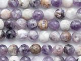 Chevron Amethyst Faceted Round Gemstone Beads 8mm (GS4490)