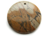 Red Creek Jasper Round Pendant 40mm (GSP2031)
