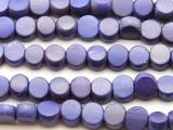 Grape Purple Tabular Wood Beads 10mm - Indonesia (WD959)