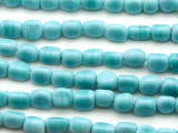 Pastel Blue Triangle Glass Beads 6-7mm (JV1198)
