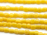 Yellow Triangle Glass Beads 6-7mm (JV1203)